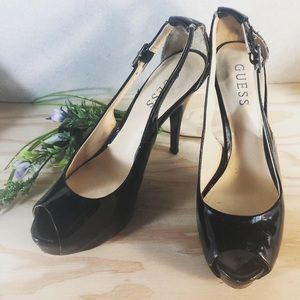 Guess Black Open-Toe Heel